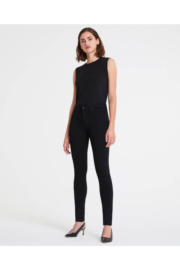 AG Denim The Farrah Skinny - Super Black