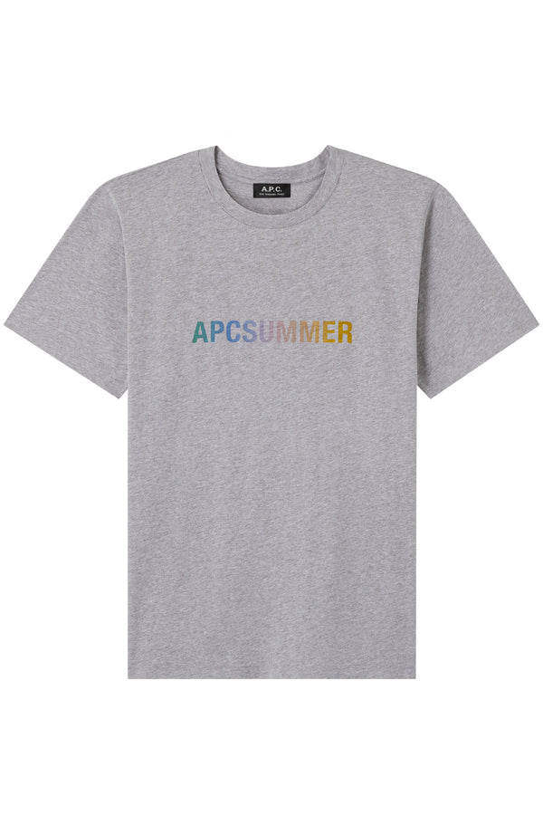 A.P.C. COELN-F26028 Summer Logo T-Shirt - Heathered Grey