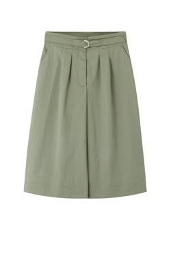 A.P.C. COEQX-F06297 Caroline Cotton Gabardine Skirt - Gray Green