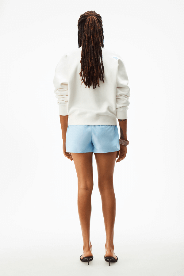 Alexander Wang.T 4CC1201157 Foundation Terry Crewneck Sweatshirt - White Back