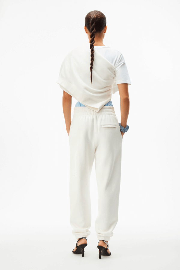 Alexander Wang.T 4CC1204061 Foundation Terry Sweatpant - White Back