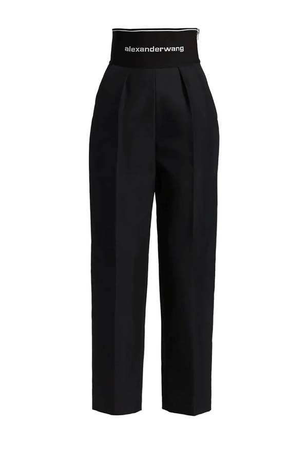 Alexander Wang 1WC2214345 Logo Elastic Straight Leg Trouser - Black