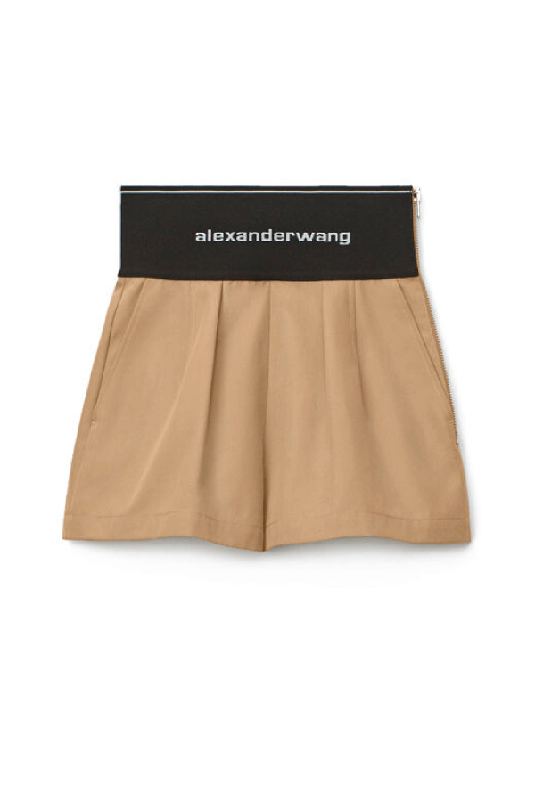 Alexander Wang 1WC2214358 Logo Elastic Safari Short - Chino