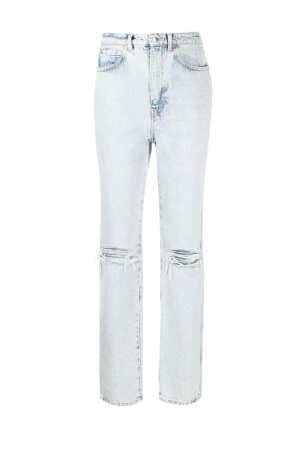 Alexander Wang.T 4DC2214341 High Waisted Dipped Back Jean - Pebble Bleach