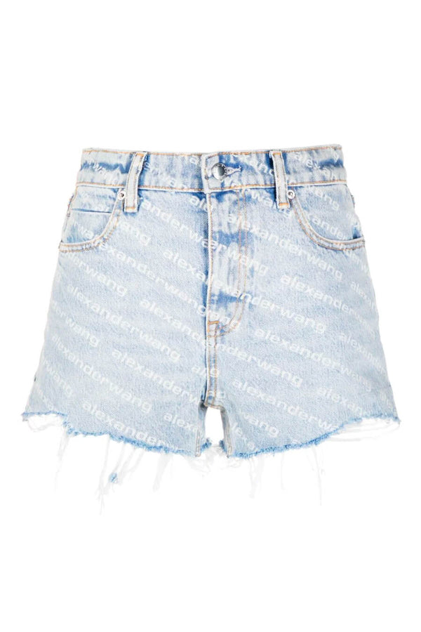 Alexander Wang.T 4DC2214781 Bite Logo Short - Pebble Bleach