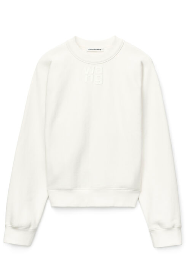 Alexander Wang.T 4CC1201157 Foundation Terry Crewneck Sweatshirt - White