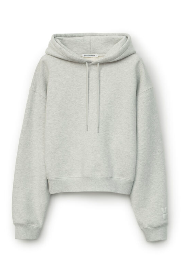 Alexander Wang.T 4CC1202025 Foundation Terry Hoodie - Light Heather Grey