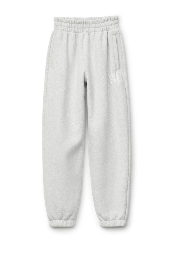 Alexander Wang.T 4CC1204061 Foundation Terry Sweatpant - Light Heather Grey