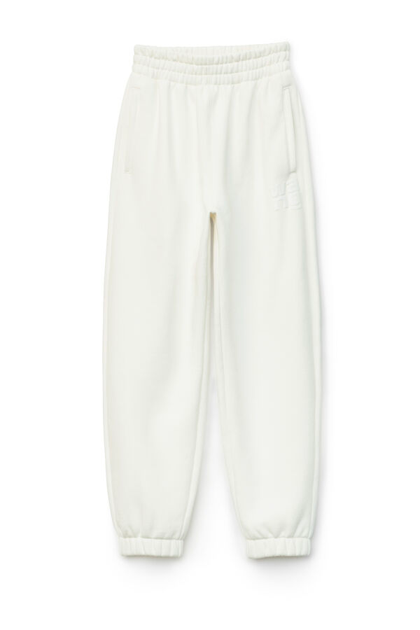 Alexander Wang.T 4CC1204061 Foundation Terry Sweatpant - White