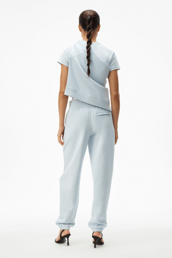Alexander Wang.T 4CC1204061 Foundation Terry Sweatpant - Xenon Blue Back