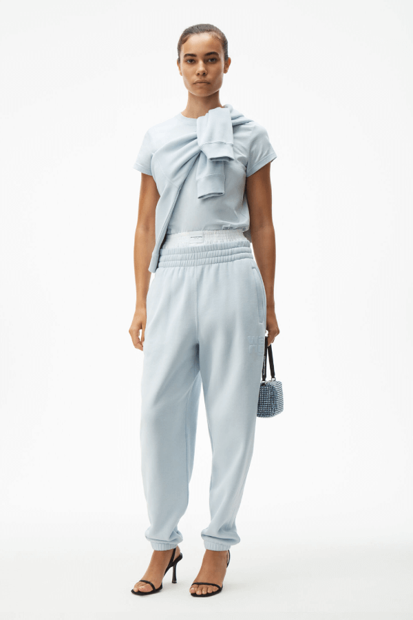 Alexander Wang.T 4CC1204061 Foundation Terry Sweatpant - Xenon Blue Front