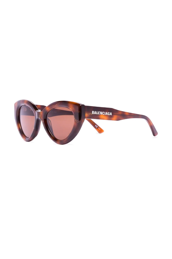 Balenciaga BB0073S002 Cat Eye Sunglasses - Dark Havana Side