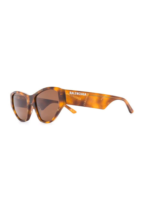 Balenciaga BB0097S003 Cat Eye Sunglasses - Havana Side