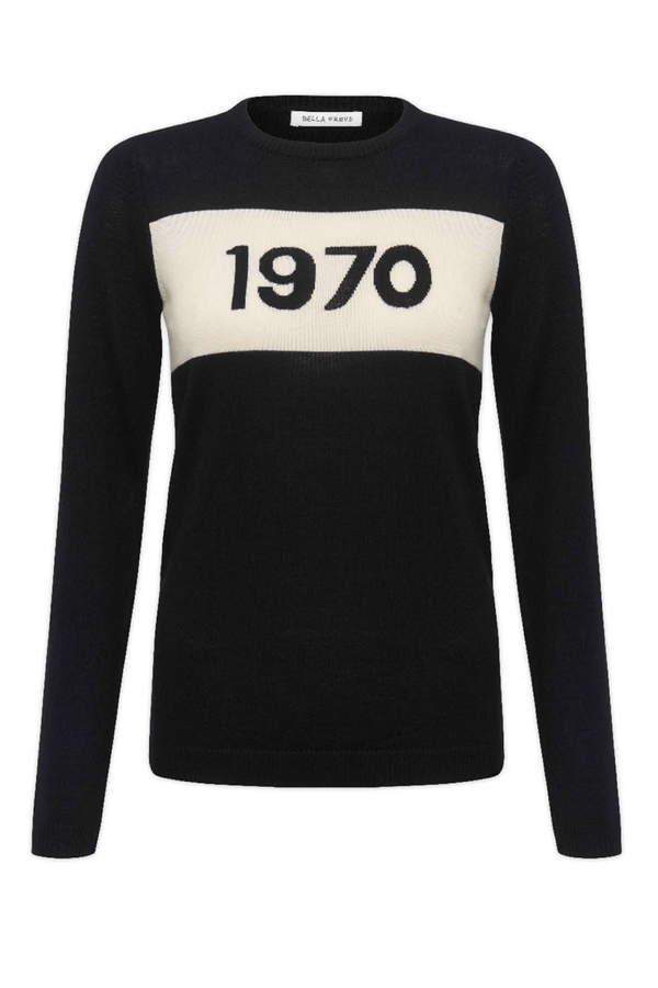 Bella Freud BFCL00JM01 1970 Merino Jumper - Black