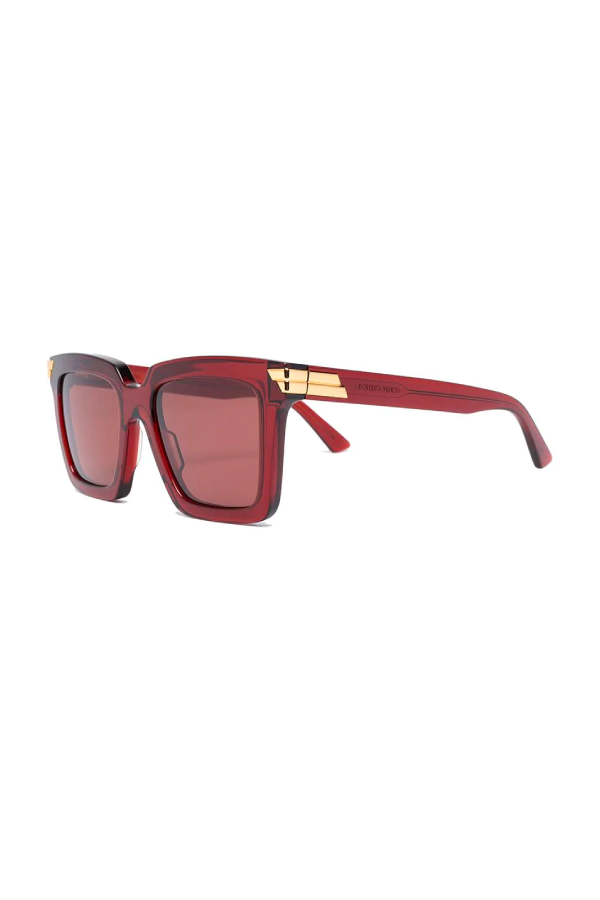 Bottega Veneta BV1005S003 Square Frame Sunglasses - Burgundy Side