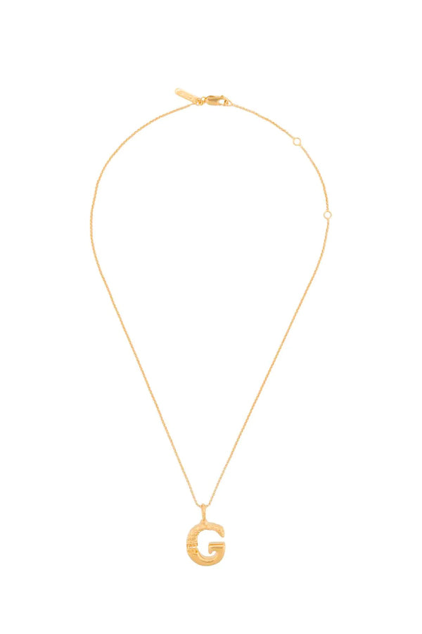 Chloé CHC20SFO2GCB7 Alphabet Chain Necklace - G
