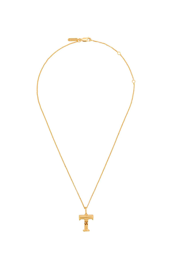 Chloé CHC20SFO2TCB7 Alphabet Chain Necklace - T
