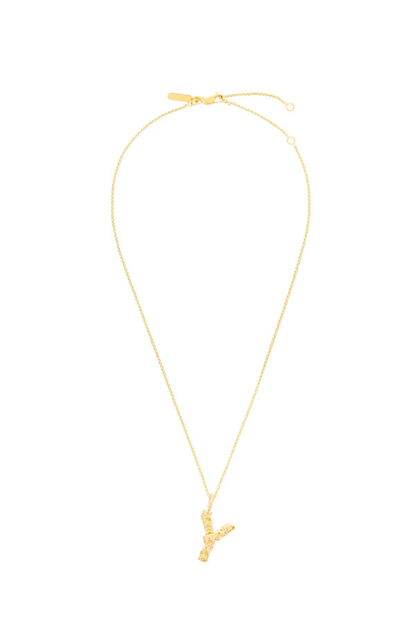 Chloé CHC20SFO2YCB7 Alphabet Chain Necklace - Y