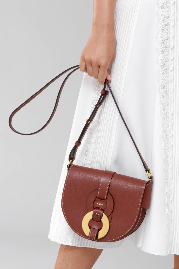 Chloé Darryl CHC21SS344C61 Saddle Bag - Sepia Brown Model