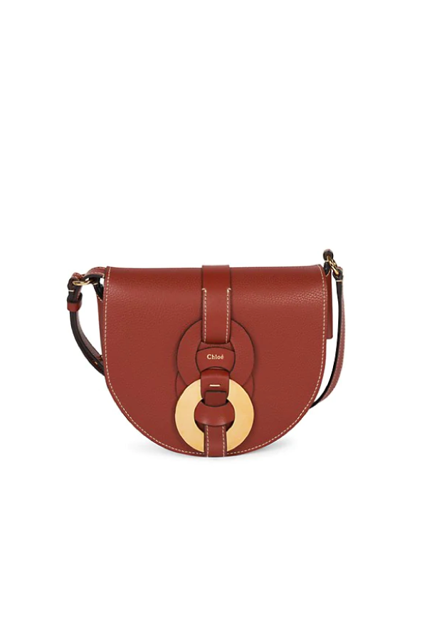Chloé Darryl CHC21SS344C61 Saddle Bag - Sepia Brown