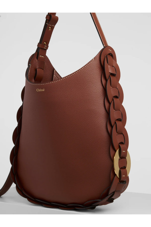 Chloé CHC20US341C61 Medium Darryl Bag - Sepia Brown Side