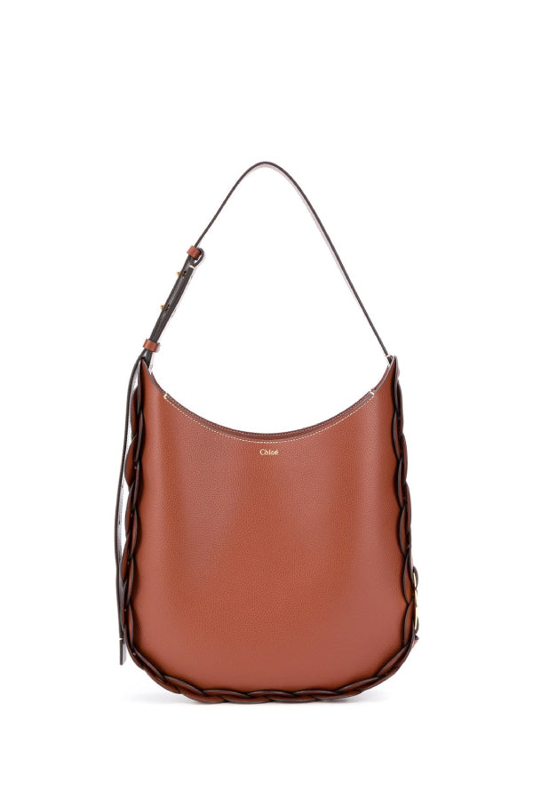 Chloé CHC20US341C61 Medium Darryl Bag - Sepia Brown