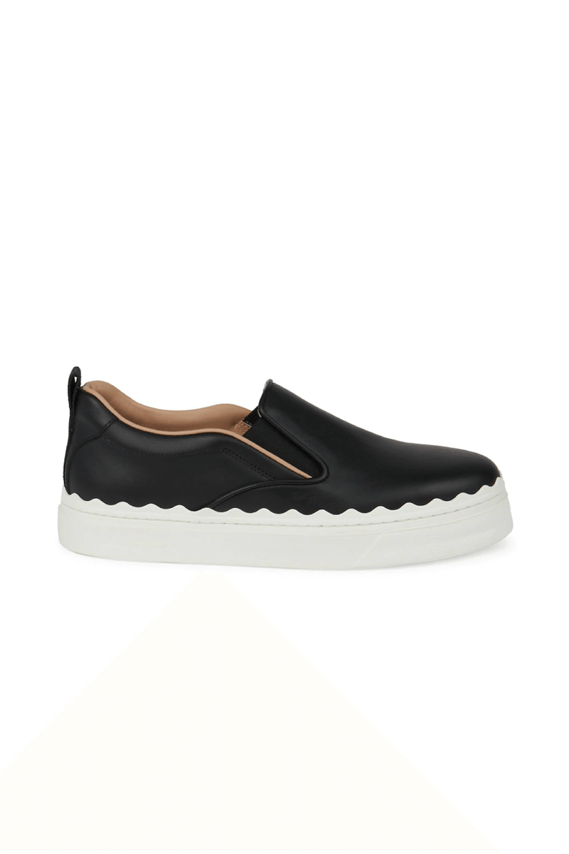 Chloé CHC21U42142 Lauren Slip On Leather Sneaker - Black