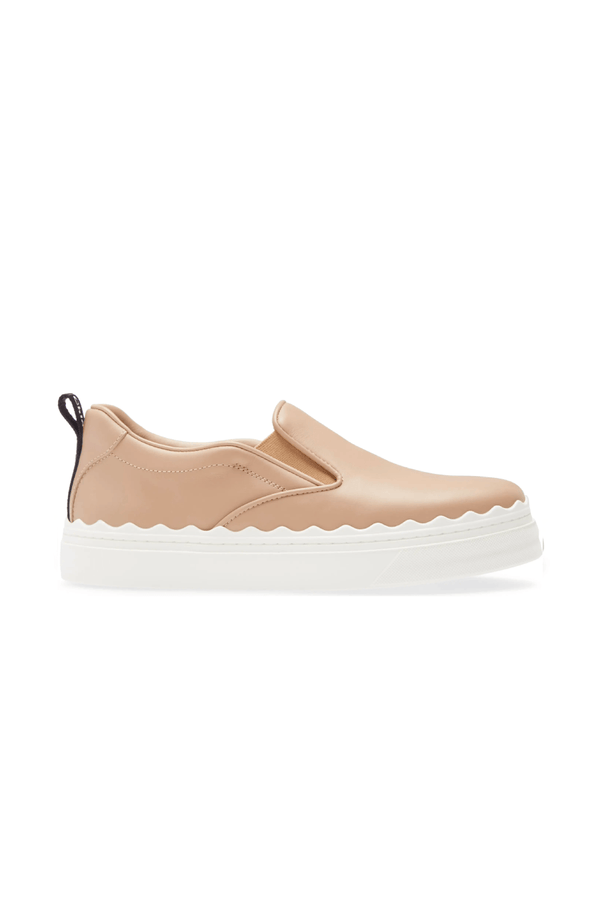 Chloé CHC21U42142 Lauren Slip On Leather Sneaker - Pink Tea