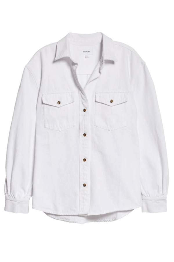 Frame Denim Boyfriend Shirt - Blanc