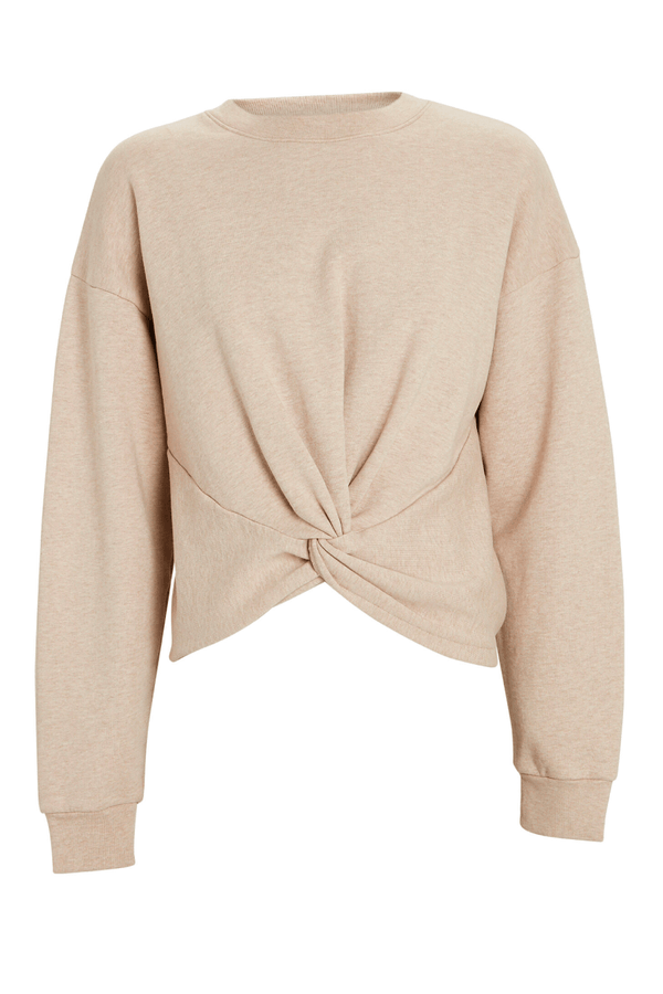 Frame Denim LWAC0368 Twisted Sweatshirt - Oatmeal Heather