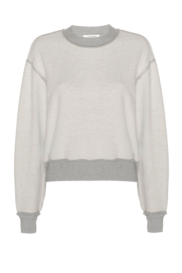 Frame Denim LWAC0380 Inverse Easy Organic Sweatshirt - Heather Grey