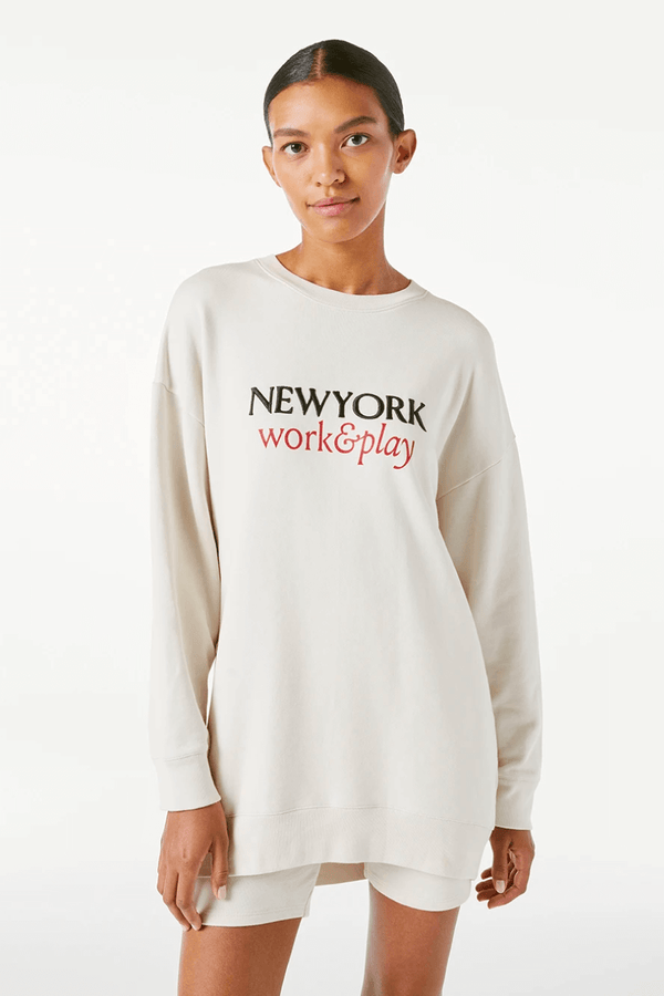 Frame Denim LWAC0388 Work & Play Sweatshirt - Whisper White Front