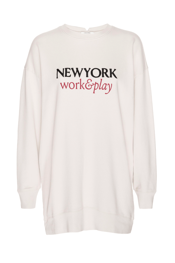 Frame Denim LWAC0388 Work & Play Sweatshirt - Whisper White
