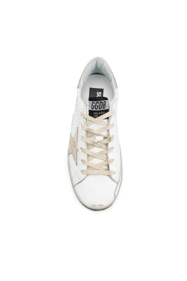Golden Goose GWF00101.F000316 Superstar Sneaker - White/ Gold Top