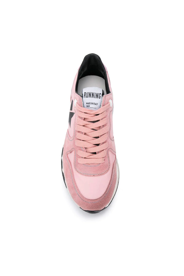 Golden Goose GWF00126.F000276 Running Sole Sneaker - Pink/ Black Top