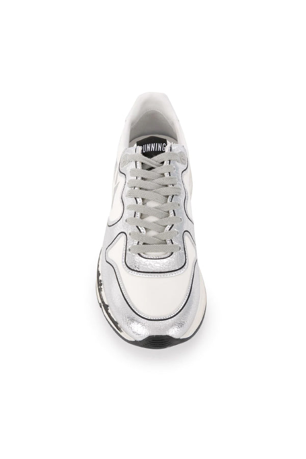 Golden Goose GWF00126.F000327.80185 Running Sole Sneaker - White/ Silver Top
