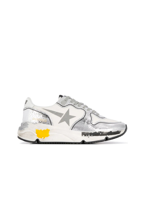 Golden Goose GWF00126.F000327.80185 Running Sole Sneaker - White/ Silver