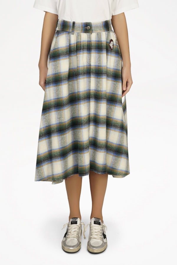 Golden Goose GWP00140.P000181 Adele Skirt - Infinity Check/ Light Kemp Front