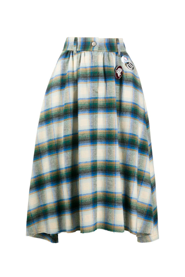 Golden Goose GWP00140.P000181 Adele Skirt - Infinity Check/ Light Kemp