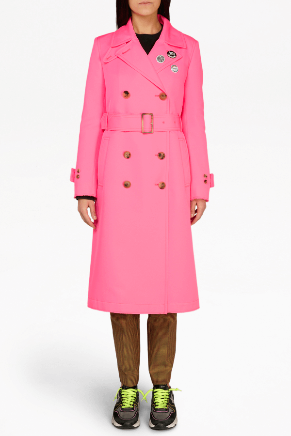 Golden Goose Abigail Trench Coat - Fucsia