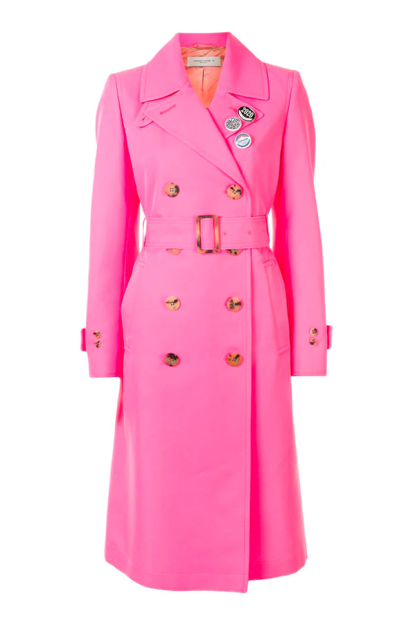 Golden Goose GWP00211.P000119 Abigail Trench Coat - Fucsia