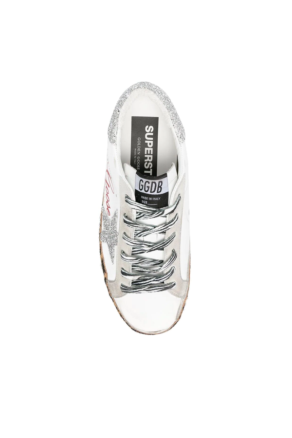 Golden Goose GWF00101.F000128.80214 Crystal Superstar Sneaker - White/ Ice Top