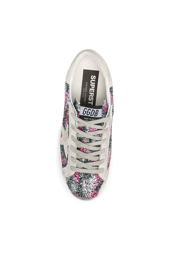 Golden Goose GWF00101.F000148.80171 Superstar Sneaker - Silver/ Fucsia Top
