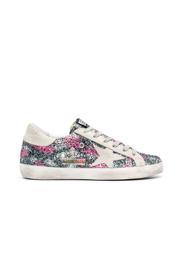 Golden Goose GWF00101.F000148.80171 Superstar Sneaker - Silver/ Fucsia