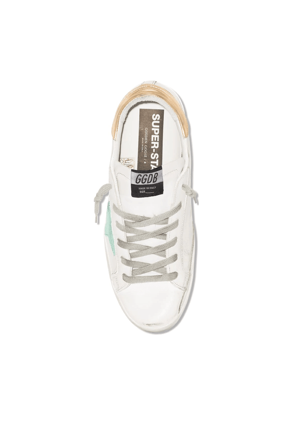Golden Goose GWF00101.F000212.10243 Superstar Sneaker - White/ Green/ Gold Top