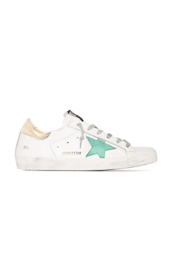 Golden Goose GWF00101.F000212.10243 Superstar Sneaker - White/ Green/ Gold