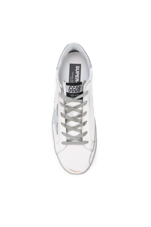 Golden Goose GWF00101.F000314.80185 Superstar Sneaker - White/ Silver Top