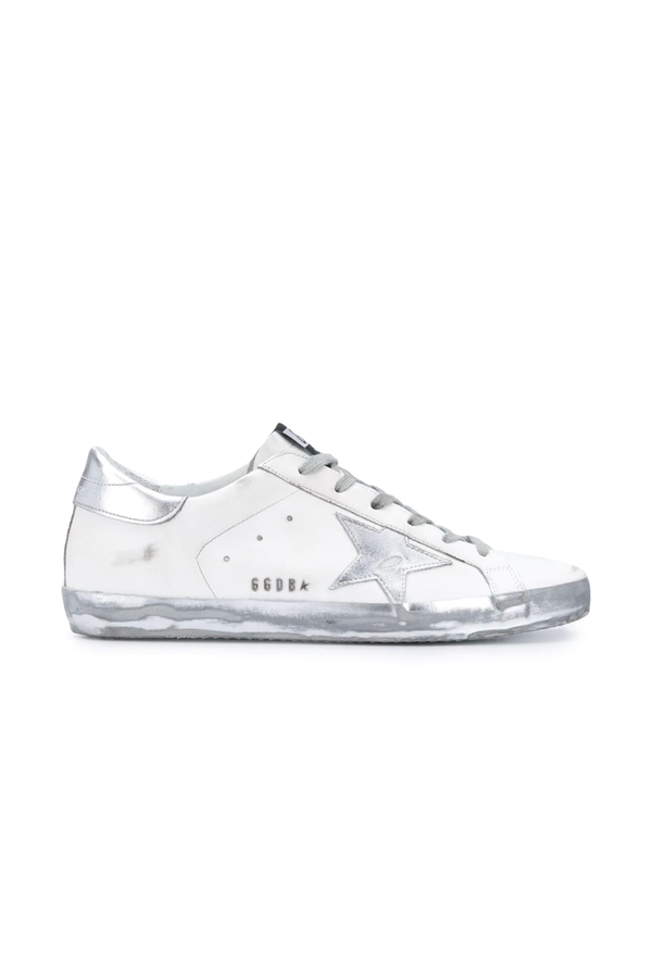 Golden Goose GWF00101.F000314.80185 Superstar Sneaker - White/ Silver