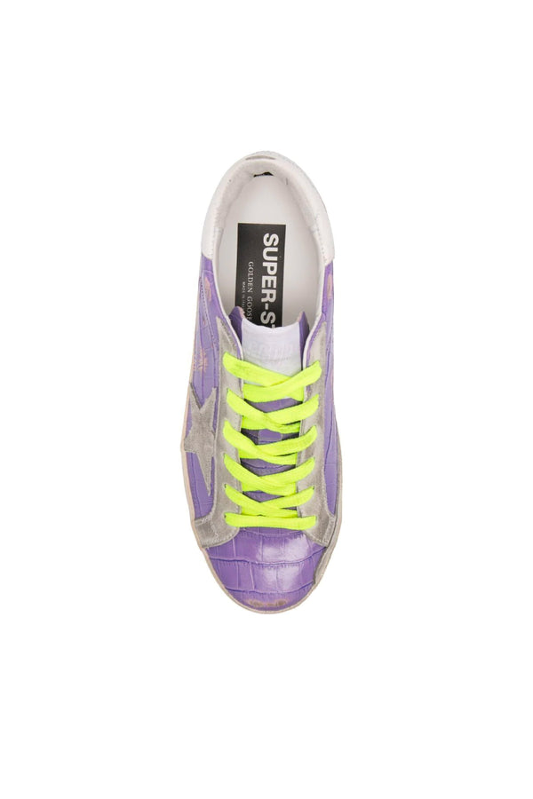 Golden Goose GWF00101.F001229.45329 Superstar Sneaker - Purple/ Optic White Top