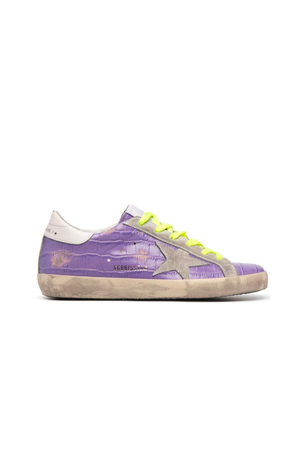 Golden Goose GWF00101.F001229.45329 Superstar Sneaker - Purple/ Optic White